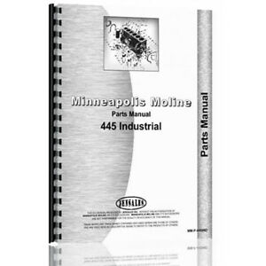 New Industrial construction Tractor Parts Manual For Minneapolis Moline 445