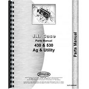 Parts Manual Fits Case 530 Tractor sn Up To 8262800 gas And Diesel