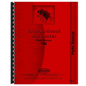 New Parts Manual For Farmall 706 Tractor gas Lp Diesel Only