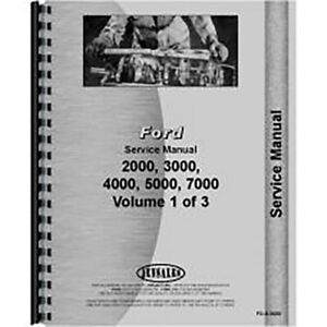 New Service Manual For Ford 5000 Tractor