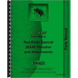 New Parts Manual For Oliver 28x46 Thresher
