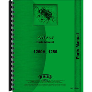 Parts Manual For Oliver 1255 Tractor