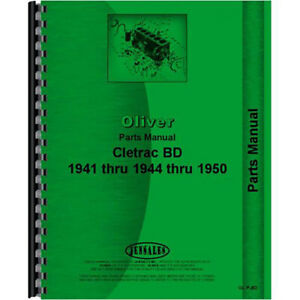 New Parts Manual For Oliver Bd Crawler