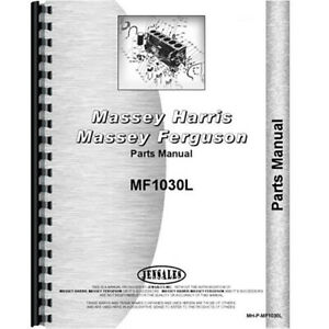 New Parts Manual For Massey Ferguson 1030 l Tractor