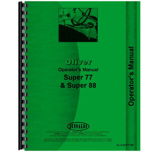 Operators Manual For Oliver Super 88 Tractor