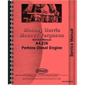 Service Manual For Mh s enga4 236 Fits Massey Ferguson 184 Compact Tractor Engin