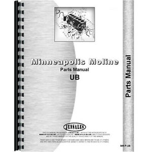 New Parts Manual Made For Minneapolis Moline Tractor Model Ubed
