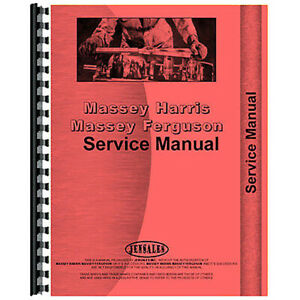 New Service Manual For Massey Harris 55 Tractor with Ape Diesel Pump