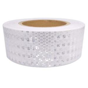 Car Truck Reflective Self adhesive Safety Warning Tape Roll Sticker White 25m