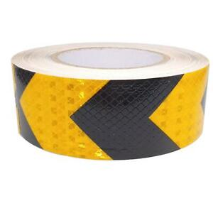 Car Truck Reflective Self adhesive Safety Warning Tape Sticker Black Yellow 25m