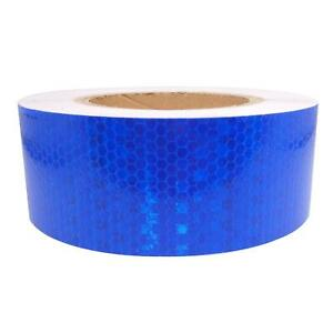 Car Truck Reflective Self adhesive Safety Warning Tape Roll Sticker Blue 25m
