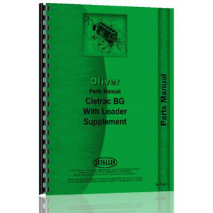 Parts Manual For Oliver Cletrac Bg