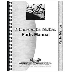 Parts Manual Made For Minneapolis Moline U bar Harrow Model Au R3000