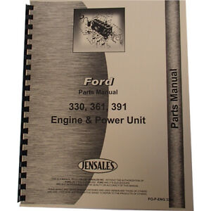 Engine Parts Manual Fits Ford 330 Engine V8 Gas industrial And Power Units