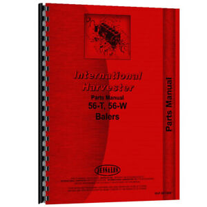 Tractor Parts Manual For International Harvester 56 w