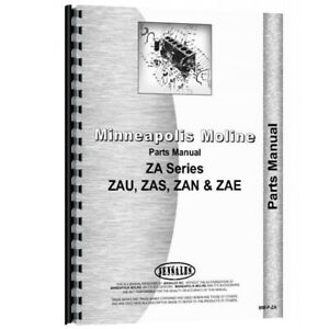 New Parts Manual Made For Minneapolis Moline Tractor Model Zan