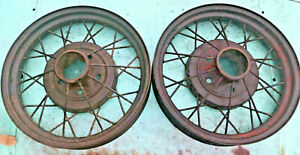 1930 1931 Ford Model A Oem 19 Inch Wheel Rims Pair Solid Used Cores Fomoco
