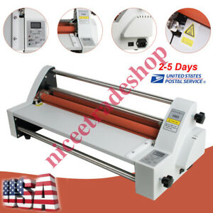 Electric Four Roller Eight Bearings Hot cold Roll Laminating Machine Fast Ship