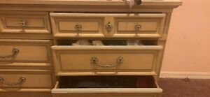 Rare Vintage Wood French Provincial Dresser By Dixie Shipping Not Included