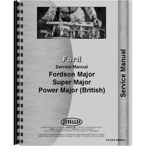 Service Manual For Ford Power Major Tractor Late Model 1958 1961