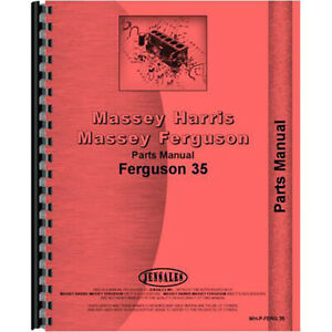 Parts Manual For Massey Ferguson 35 Tractor