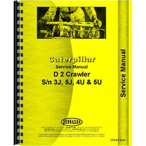 Service Manual Fits Caterpillar 933 Traxcavator D2 Dozer Chassis
