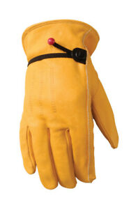 Wells Lamont Premium Cowhide Leather Work Gloves Lg Draw String Brand New