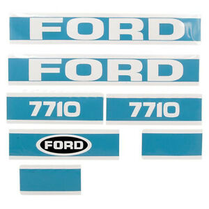 Hood Decal Set Fits Ford Fits New Holland 7710 Tractor