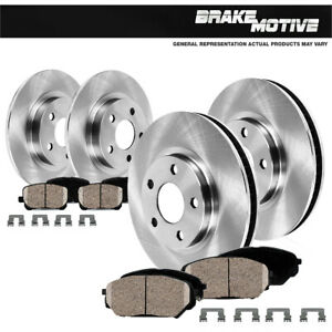 For 1999 2000 2001 2002 Ford Expedition Front Rear Rotors Ceramic Pads