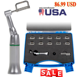 4 1 Reduction Dental Contra Angle Ipr Handpiece 10 Interproximal Strips Kit