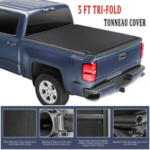 5 Ft Tri Fold Truck Tonneau Bed Cover For 2019 2020 Ford Ranger W Hardware