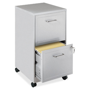Lorell 16873 2 drawer Mobile File Cabinet 18 inch Depth Gray