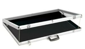 Large Portable Lightweight Aluminum Showcase With Locks 34 Inches Wide