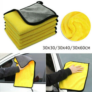 2020 Car Cleaning Towel Washing Cloth Rag Dry Microfiber Ultra Absorbent Soft Us