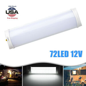 12v White Led Car Rv Caravan Trailer Boat Interior Ceiling Dome Reading Light Us