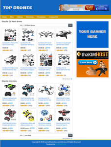 Drones Affiliate Website Business For Sale Profitable And Easy To Manage