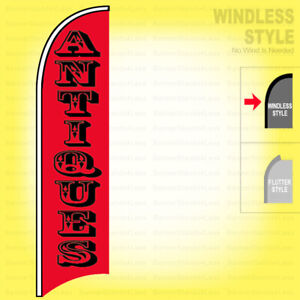 Antiques Windless Swooper Flag 2 5x11 5 Ft Feather Banner Sign Rb