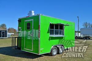 New 2020 8 5x16 V Nose Enclosed Mobile Concession Kitchen Food Vending Trailer