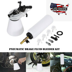 1l Pneumatic Brake Fluid Bleeder Set Car Air Extractor Clutch Oil Bleeding Tool