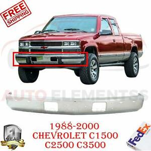 Front Bumper Chrome Steel W Impact Strip Holes For 88 00 Chevrolet C1500 Pickup