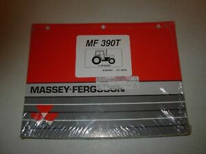 Massey Ferguson Mf 390t Tractor Parts Manual S n B18009 Up Issued 1993