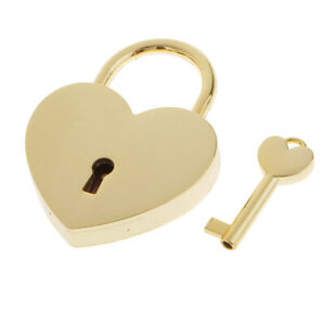 1pc Heart Shaped Lock Jewelry Boxes Lock Small Case Luggage Lock