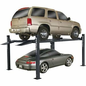 Bendpak 4 post Lift Wide standard Lift 9000lb Capacity Blue Model Hd 9xl