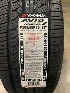 2 New 205 55 16 Yokohama Avid Touring S Tires