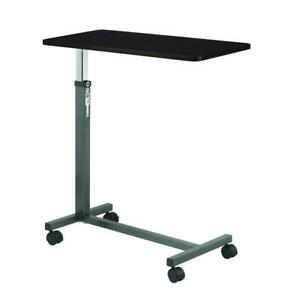 Overbed Table Medical Adjustable Bedside Hospital Rolling Tables With Wheels