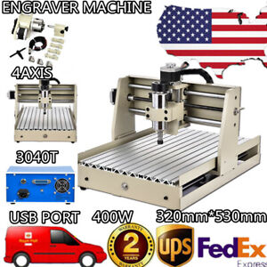 3040 Cnc Router Usb 4 Axis Engraver 400w Woodwork Engraving Machine Heavy Duty