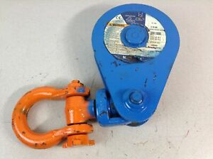 95105 Mckissick 109224 8 Sheave Snatch Block W Shackle 5 8 3 4 Wire 8 Ton