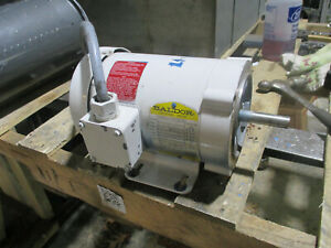Baldor Electric Motor Cat 330 4528 100 1 2 Hp 3 Phase 1725 Rpm 56cz Frame
