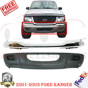 Front Bumper Chrome Valance Primed For 2001 2003 Ford Ranger Xlt 2wd Models