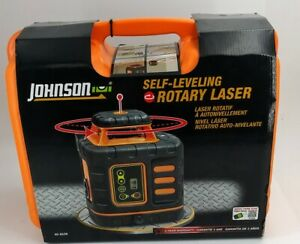 Johnson Self Leveling Rotary Laser Level Kit Set 40 6539